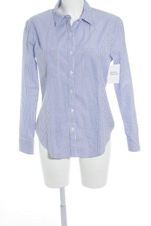 Anine Bing Camicetta a maniche lunghe bianco-azzurro motivo a righe stile casual