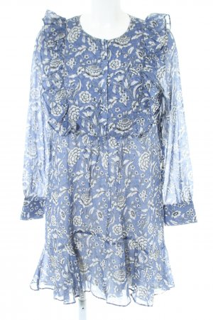 Anine Bing Longsleeve Dress blue allover print casual look