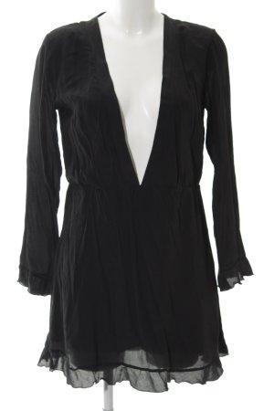 Anine Bing Langarmkleid schwarz Elegant