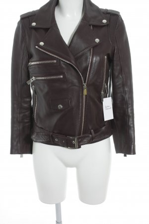 Anine Bing Leather Jacket brown red casual look