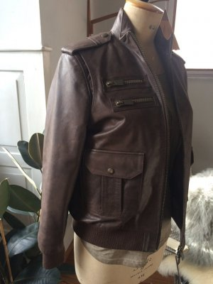 Anine Bing Leather Jacket multicolored leather