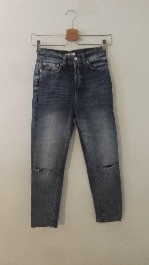Anine Bing Slim Jeans multicolored cotton