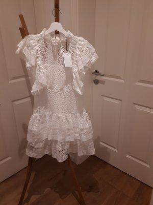 Anine Bing Vestido de manga corta blanco Algodón