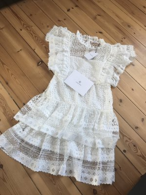 Anine Bing Vestido de encaje blanco