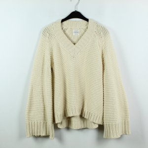 Anine Bing Knitted Sweater pale yellow cotton