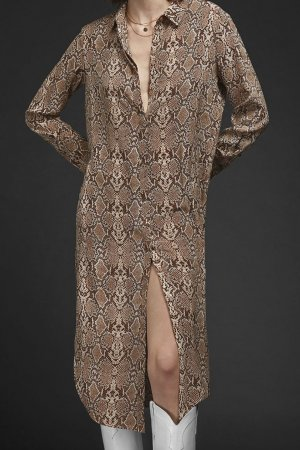 Anine Bing Robe chemisier multicolore soie