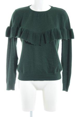 Anine Bing Jersey de cuello redondo verde bosque mullido