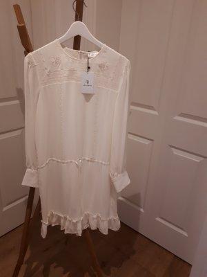 Anine Bing Midi Dress natural white silk