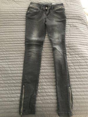 Anine Bing Skinny Jeans schwarz/ Grau