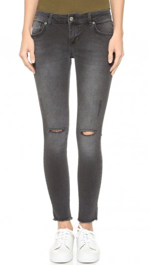 Anine Bing Jeans skinny gris anthracite