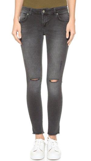 Anine Bing Skinny Ripped Jeans Charcoal Anthrazit Dunkelgrau Gr. 27 / XS - wenige Male getragen!