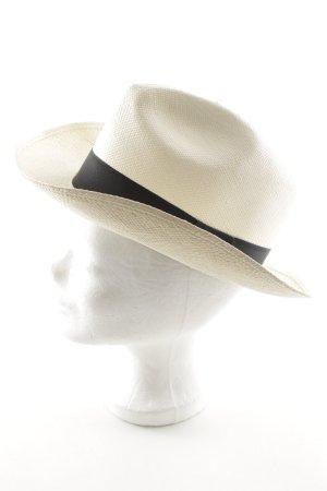 Anine Bing Cappello di paglia crema stile casual