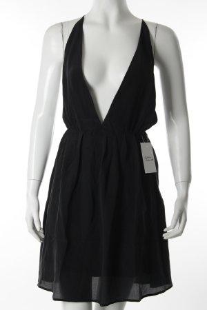 Anine Bing Abito scamiciato nero stile minimalista
