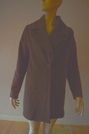 Anine Bing Oversized Coat dark grey wool