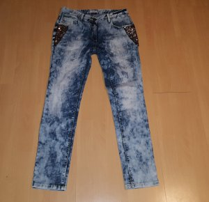 Aniston Jeans mit Pailetten. Moonwashed