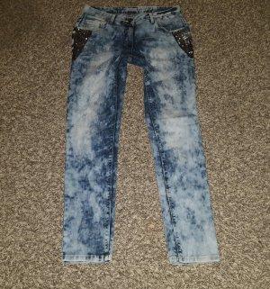 Aniston Jeans mit Pailietten
