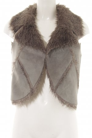 Aniston Fake Fur Vest grey-dark grey extravagant style