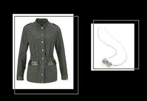 Aniston - Military Jacke GR. 36 & versilberte Halskette