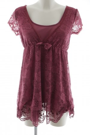 Aniston Lace Dress pink casual look
