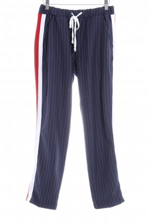 Aniston Jersey Pants pinstripe casual look