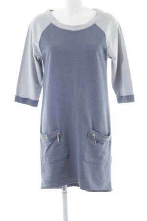 Aniston Sweatkleid blau-hellgrau Casual-Look