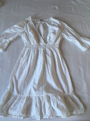 Aniston Empire Dress white cotton