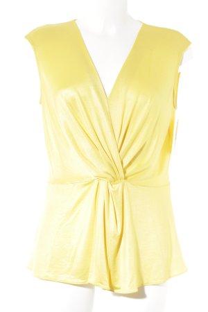 Anja Gockel Blusa sin mangas amarillo elegante