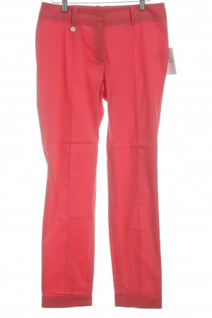 Anja Gockel Pantalon à pinces rouge clair style d'affaires