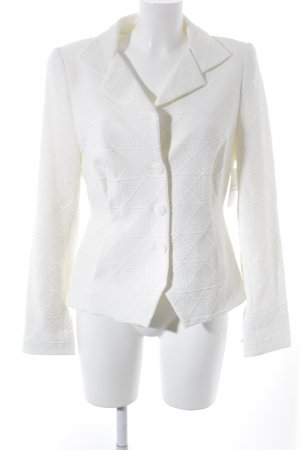 Anja Gockel Blazer corto blanco puro estampado gráfico look casual