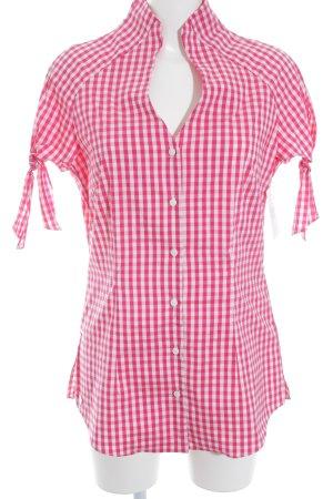 Anja Gockel Short Sleeve Shirt check pattern elegant