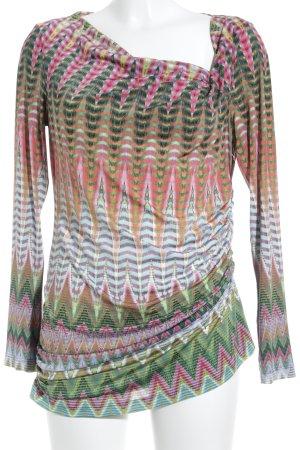 Anja Gockel Langarm-Bluse abstraktes Muster 70ies-Stil
