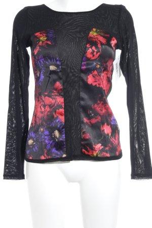 Anja Gockel Langarm-Bluse Blumenmuster Elegant