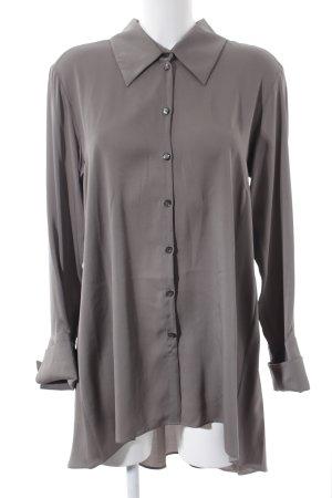 Anja Gockel Lange blouse grijs-bruin elegant