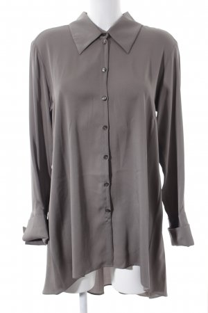 Anja Gockel Camicetta lunga marrone-grigio elegante