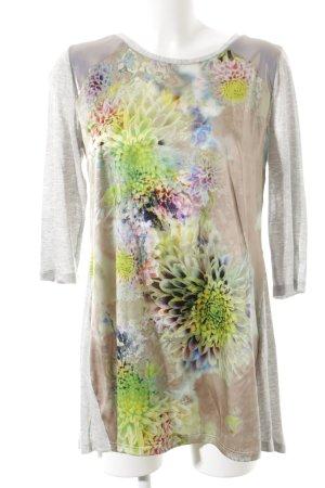 Anja Gockel Lang shirt bloemenprint wetlook