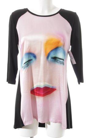 Anja Gockel Camisa larga estampado temático look efecto mojado