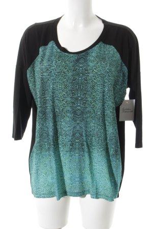 Anja Gockel Camisa larga negro-turquesa estampado de reptil