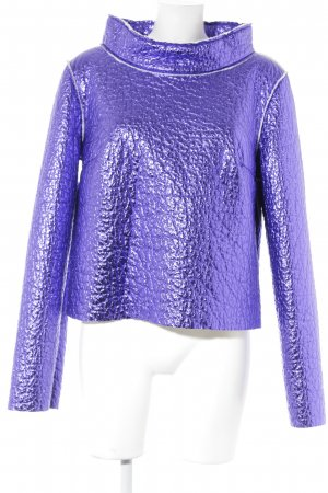 Anja Gockel Oversized Pullover flieder extravaganter Stil