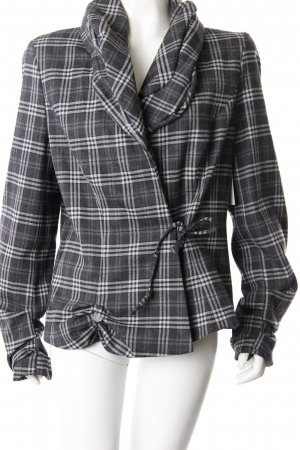 Anja Gockel wool blazer gray checkered
