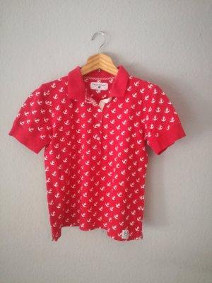 Franco Callegari Camisa de manga corta rojo-blanco Algodón