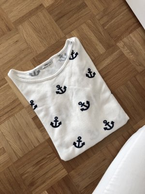 Only Oversized Sweater dark blue-white