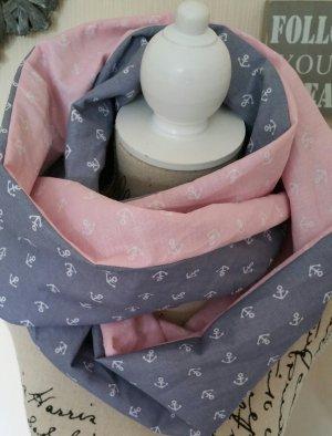 Ankerloop in rosa mit grau