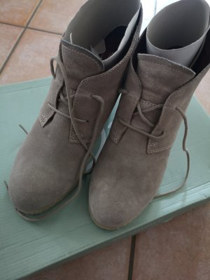 Zign Platform Booties grey brown suede