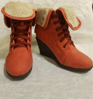 Winter Booties dark red-brick red