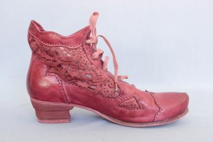 Rovers Low boot rouge-rouge framboise cuir
