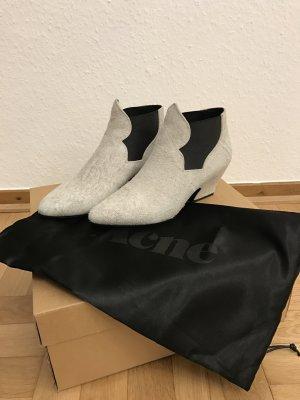 """Ankle Boots """"Alma"""" von Acne aus strukturiertem Wildleder in off-white"""