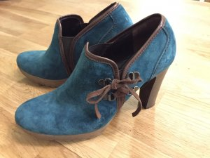 Ankle Boots aus Wildleder in petrol
