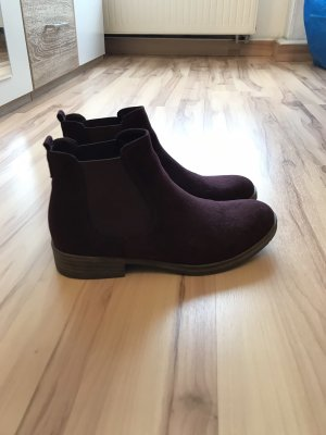 Low boot rouge mûre