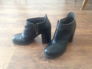 Ankle Boots cheap monday 36 Black Leder blockabsatz