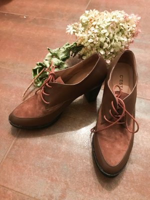 Ankle Boots Chelsea Stiefeletten braun Sand 39 Leder Trotteur